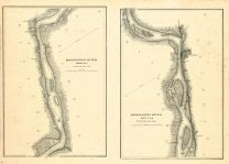 Mississippi River Chart 1866, Mississippi River Chart 1866